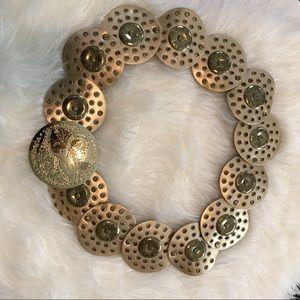 "Gold belt. Like new! S/M 39 1/2"" long Style B4959"